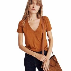 Madewell Whisper V Neck Pocket T-Shirt Size XXL